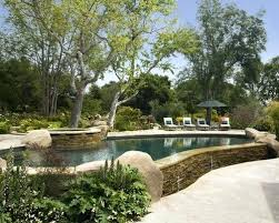 Inground Pool Landscaping Ideas Semi Inground Pool Ideas Above Ground Pool Decks For Small Yards