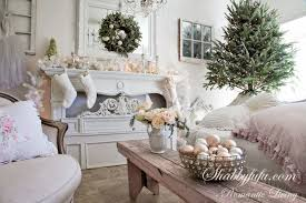 Elegant Christmas Mantel Decorations by Punched Up Pink For An Elegant Holiday Look Shabbyfufu