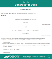 10 Vendor Agreement Templates Free Land Contract Forms Free Contract For Deed Form Us Lawdepot