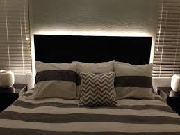 headboard lighting ideas how to make a floating headboard with led lighting diy