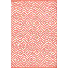 Coral Area Rugs Coral White Indoor Outdoor Rug Dash Albert
