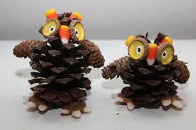 remadesimple candy corn pinecone owls