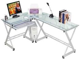 Buy Glass Computer Desk Impressive Glass Computer Desk Anyone Here Using A Tempered Glass