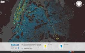 Street Map Of New York City by Hubcab Mit Senseable City Lab