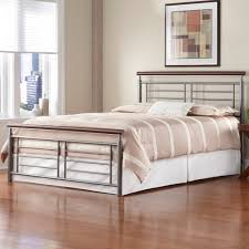 Metal Bed Frame Cover Iron Bed Silver Cherry Metal Contemporary Design