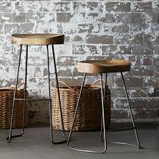 stools design interesting metal bar stools with wood seat