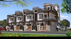 row house elevation design youtube