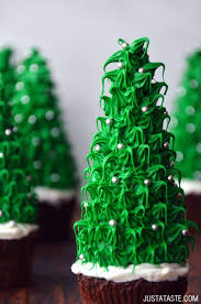 christmas tree cupcakes just a taste