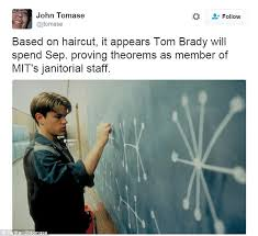 Good Will Hunting Meme - tom brady shows off his new haircut at press conference and is