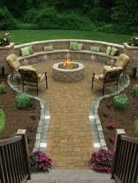 Gravel Fire Pit Area - inspiration for backyard fire pit designs fire pit area fire