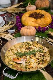 farm to table thanksgiving fish stew w colonial pumpkin