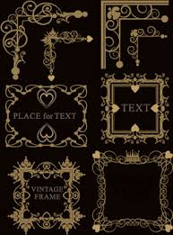 ornamental borders vector illustrator free vector