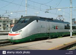 Italy At High Speed By by Etr 500 Eurostar Train Service At Florence Smn Railway Station