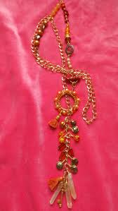 long orange necklace images Lariat multi gemstone necklace long orange lariat necklace 44 jpg
