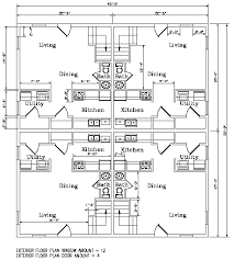 three plex floor plans kodiak steel homes fourplex model
