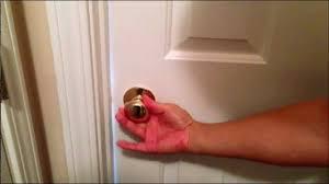 How To Unlock A Bathroom Door Knob How To Unlock A Deadbolt Door Without Key Break Open Lock With