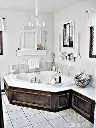 Creative Ideas For Decorating A Bathroom Top 25 Best Corner Tub Ideas On Pinterest Corner Bathtub
