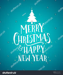 merry happy new year lettering stock vector 755150914