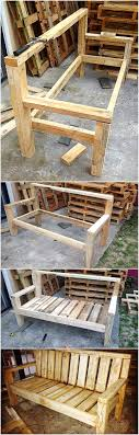 recycled wood diy recycled wood pallet bench plan wood pallet furniture