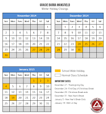 winter schedule 2014 2015 at gracie barra mansfield