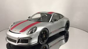 porsche sports car models review of spark porsche 911 r 991 silver with red resin car