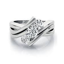 3 diamond rings three diamond ring in platinum wedding promise diamond