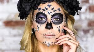 Sugar Skull Halloween Makeup Tutorial by Halloween Makeup Tutorial Diamond Skull Youtube