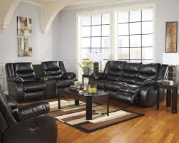 Black Living Room Furniture Sets by Benchcraft Linebacker Durablend Black Contemporary Reclining