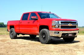 Red Lifted Chevy Silverado Truck - 2in leveling lift kit for 2007 2018 chevrolet gmc 1500 pickups