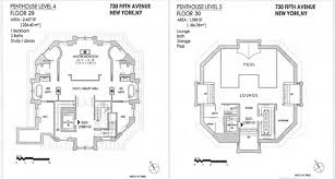 Second Empire Floor Plans Penthouse Floorplans For Midtown U0027s Crown Building Include Two