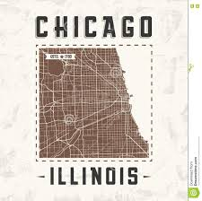 Vintage Chicago Map by Amsterdam Colored Vector Map Stock Vector Image 84726169