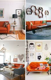 Orange Sofa Living Room by 24 Colorful Couches That Make A Statement Home Inspiration