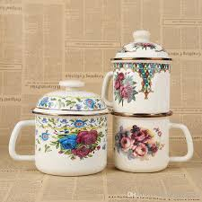 metal canisters kitchen creative coffee tea enamel metal containers cup multicolor with