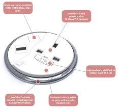 Office Desk Power Sockets Porthole Desktop Power Module Genesys Office Furniture