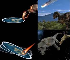 Meme Dinosaur - if god isn t real then explain this flat earth theory know your