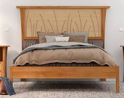 bed frame king size headboard platform bed queen art deco