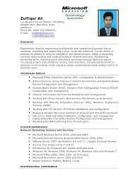 Hardware Skills In Resume Zulfiqar Ali Chandio Resume