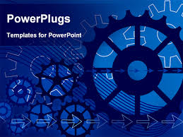 powerpoint template vector gears engineering technology 4587