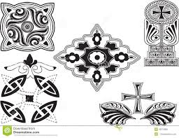 georgian ornaments set stock vector image 49213886