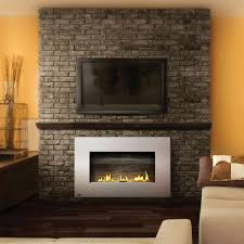 stone wall fireplace fairly flush fireplace sleep fireplace lots of room for tv modern