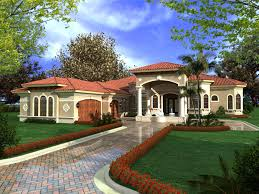 Home Plans One Story Mediterranean House Plans With Photos Luxury Modern Floor At Home