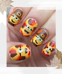 nail for thanksgiving thanksgiving minion nails 18 thanksgiving and fall nail ideas