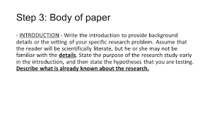 writing introduction to research paper writing an apa research paper ppt download step 3 body of paper