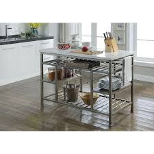 kitchen cabinet marble top konnor marble top kitchen island with towel rack and open compartments