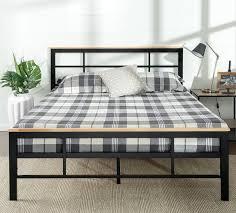 Wood And Iron Bedroom Furniture by Zinus Urban Metal Wood Platform Bed U0026 Reviews Wayfair
