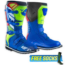 motocross boots ufo 2018 avior motocross boots blue red neon yellow md racing