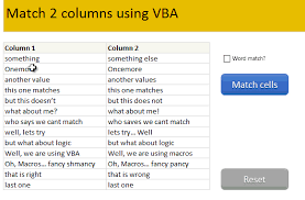 excel compare two tables find only matching data compare 2 sets of data by letter or word highlight mismatches vba