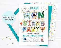 monster birthday party invitations printable kids invitation