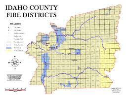 Idaho On Map Fire District Map U2013 Official Idaho County Site