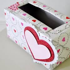 valentines mailbox make a s mailbox using an empty tissue box